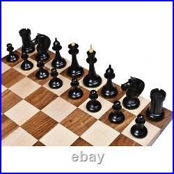 1950's Soviet Latvian Reproduced Chess Pieces only set- Ebonised Boxwood 4.1
