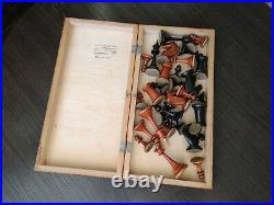 1953 made! Awesome Vintage Soviet Chess USSR Woden Chess Full Set