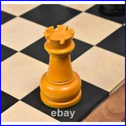 1960's Soviet Championship Tal Chess Pieces Only Set Antiqued Boxwood- 4 King