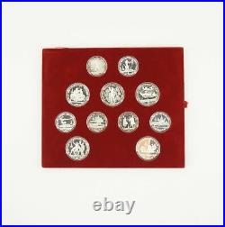 1980 USSR Moscow Olympic Silver Coin Set with Case & COA Free Shipping USA