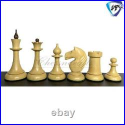 4.1 1950 Soviet(Russian) Latvian Chess Pieces Set in Golden Rose wood & Boxwood