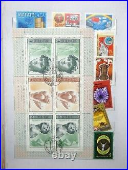 Beautiful Mint Russia USSR Stamp Collection in Collector's Album 1975-1990 Sets