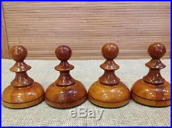 Chess Set Big Giant Wooden Russian Soviet Vintage 50-60's Made in USSR Very Rare