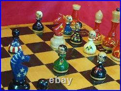 Chess Set Usa-ussr Russia Historical Leaders (handmade)
