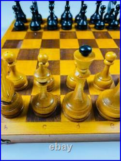 Classic Soviet Chess Set 60s Wooden Russia Vintage USSR Antique