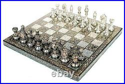 Collectible Full Brass Chess Set 12 hand carved with 100% brass pieces/coins