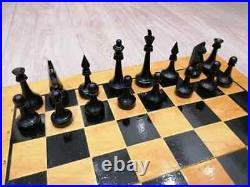 Collectible vintage USSR chess set (Big desk 50x50) made in USSR 1960s