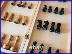 Fastship Old classic soviet chess set Wooden Russian Vintage USSR antique