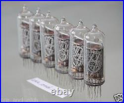 IN-14 NIXIE TUBES USSR unsoldered TESTED unused for NIXIE TUBES CLOCKS 6 PCS SET
