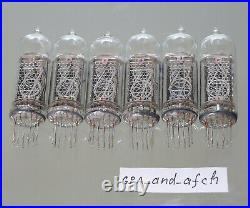 IN-14 Nixie Tubes UNUSED TESTED 6 pcs SET FAST DELIVERY UPS 3-5 Days