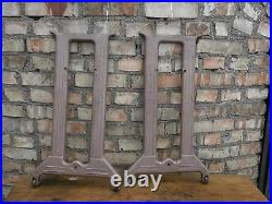 Industrial Table cast iron base furniture 28 in Vintage retro Set of 2