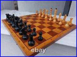 Nice Authentic Classic soviet chess set Wooden Russian Vintage USSR antique