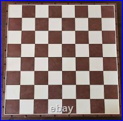 Olympic soviet chess set brown blue Russian Vintage USSR plastic antique