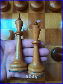 RARE SOVIET Chess Set, Russian Vintage USSR with Chess Board