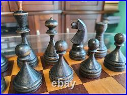 RARE SOVIET Chess Set Russian Weighted Vintage USSR with Chess Board Case