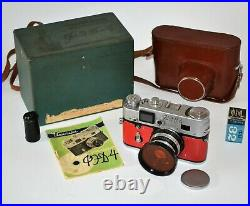RUSSIAN USSR FED 4 RED BODY camera + INDUSTAR-61 lens, FULL SET, REPAIRED (6)