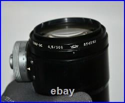 RUSSIAN USSR FS-12 WITH TAIR-3-PhS f4.5/300 LENS, PHOTOSNIPER SET (3)
