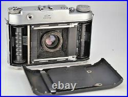 RUSSIAN USSR ISKRA 6x6cm CAMERA + INDUSTAR-58 LENS, TESTED WITH FILM, BOXED SET