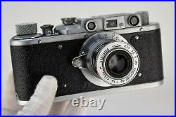 RUSSIAN USSR ZORKI 1 camera + TUBE COLLAPSIBLE INDUSTAR-22 lens, BOXED SET (2)