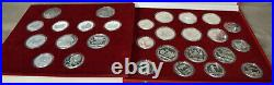 RUSSIA 1980 Moscow Summer Olympics USSR Silver 28 Coins PROOF Encapsulated Set