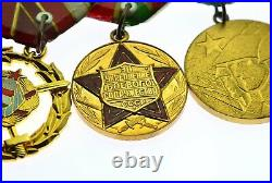 Rare Set Of 6 Medals Brother In Arms Ussr, Ddr, Romania, Hungary, Mongolia (5033)