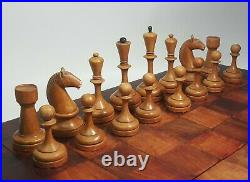 Rare Tournament vintage chess set. Weighted chess pieces. Made in USSR in 1934