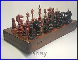 Rare vintage russian, completely wooden chess set. Made in USSR