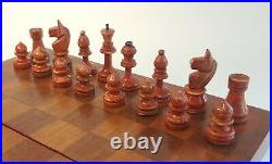 Rare vintage russian, completely wooden chess set. Made in USSR in 1939