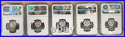Russia (USSR) Olympics Proof Platinum 5-Coins Complete Set NGC PF70 Ultra Cameo