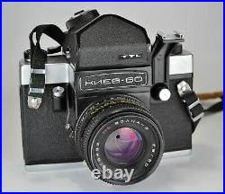 Russian Ussr Kiev-60 Ttl Medium Format Camera + MC Volna-3 Lens, Boxed Set (2)
