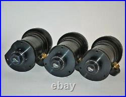 SET OF THREE RUSSIAN USSR METEOR-C f2.4/22-89 ZOOM LENSES from 16mm CINE CAMERA