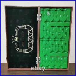 SOLD Olympic soviet chess set brown green Russia Vintage USSR wooden plastic