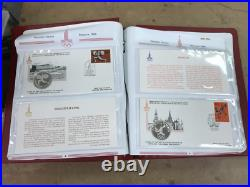 Set 42 1980 Moscow Olympic Games Silver Medal Coins in FDC Stamps USSR PNC