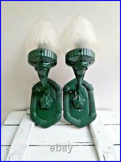 Set of 2 Soviet Russian Wall lamp Stalin's Empire Style Vintage USSR Made 1950s