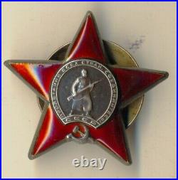 Soviet 2 medals For COURAGE order Red star Documents Banner Rare set (1499)