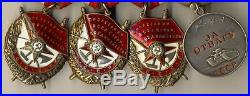 Soviet Medal Order Hero Union Red Banner Set GPW 1st Gold with research (1055)