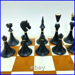 Soviet Olympic Grossmeister Plastic Chess Set + heckers USSR Antique Tournament