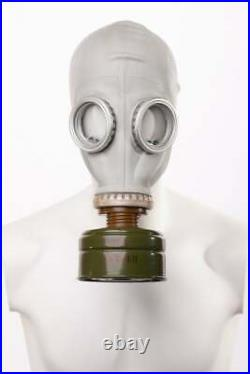 Soviet Russian LARGE Military Gas Mask GP-5. Grey rubber Full set. Priority Ship