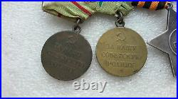 Soviet WW2 military set of medals and Order of Military Glory 3 degrees RARE