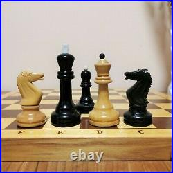 Soviet grossmeister chess set Russian Vintage USSR antique tournament weighted