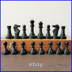 Soviet weighted grossmeister chess set Russia Vintage USSR antique tournament