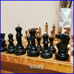 Soviet weighted grossmeister chess set Russian Vintage USSR antique tournament