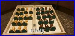 Tournament chess set Soviet russian Big wooden chess Vintage large chess USSR