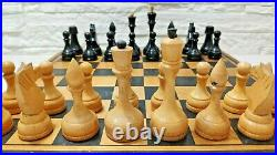 Tournament hess set Soviet russian big wooden chess Vintage large chess USSR