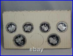 USSR Russia 1980 Olympics 1977 Silver Proof 5 10 Rouble 6 Coin Set Moscow CB222