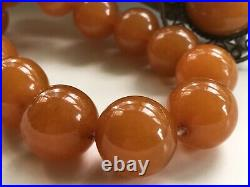 VINTAGE OUTSTANDING RUSSIAN BALTIC HONEY AMBER NECKLACE & PENDANT SET USSR 79gra