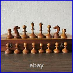 Valdai nobles Soviet chess set 60s Russia Vintage USSR antique wooden