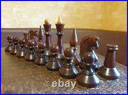 Very big Chess set Wooden USSR vintage soviet antique Condition 1960s