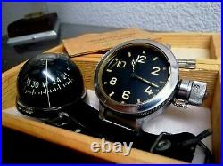 Vintage USSR Set of Deep Diver Military Watch with Compass. Rare