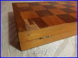 Vintage USSR Wooden CHESS SET Soviet Exclusive antiques 1949 Very rare